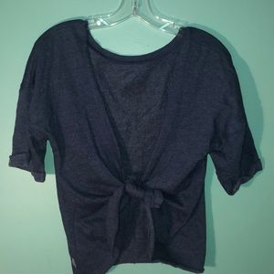 Knot back sweater tee